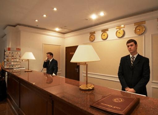 Resepshn otelya Borodino Moskva - Охрана гостиниц и отелей